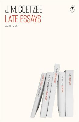 Late Essays: 2006-2017 book