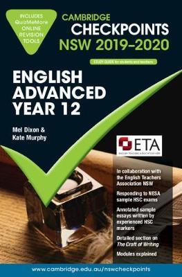 Cambridge Checkpoints NSW 2019-20 English Advanced and QuizMeMore by Melpomene Dixon