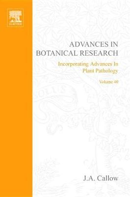 Advances in Botanical Research book