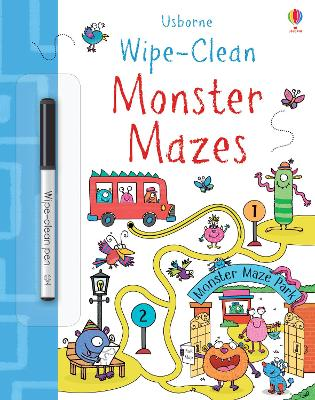 Wipe-Clean Monster Mazes by Jane Bingham