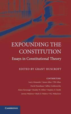 Expounding the Constitution book