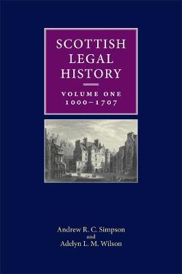 Scottish Legal History by Andrew R. C. Simpson