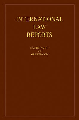 International Law Reports: Volume 136 by Elihu Lauterpacht