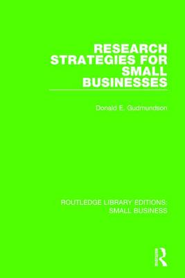 Research Strategies for Small Businesses by Don E. Gudmundson