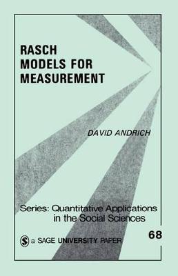 Rasch Models for Measurement book
