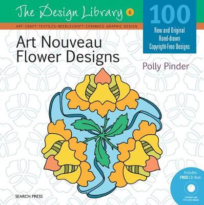 Design Library: Art Nouveau Flower Designs (DL06) by Polly Pinder