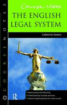 Course Notes: the English Legal System book