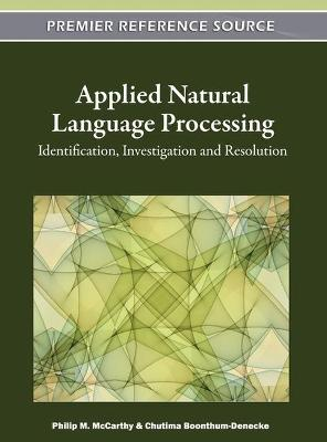 Applied Natural Language Processing by Philip M. McCarthy