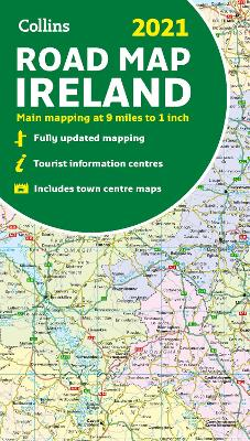 Map of Ireland 2021: Folded road map (Collins Road Atlas) by Collins Maps