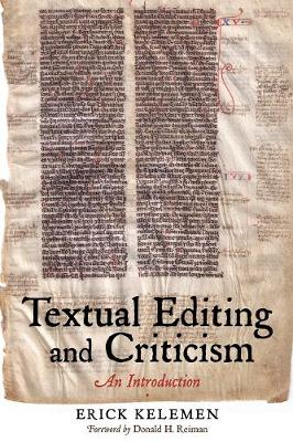 Textual Editing and Criticism by Erik Kelemen