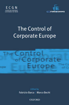 The Control of Corporate Europe by Fabrizio Barca