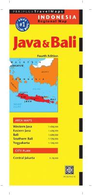 Java and Bali Map by Periplus Editions