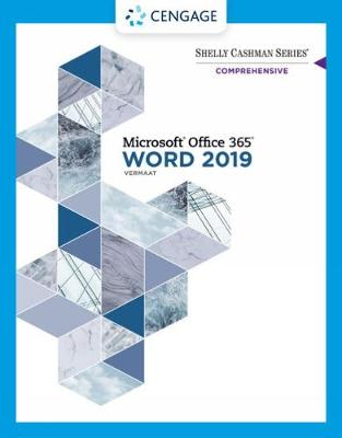 Shelly Cashman Series (R) Microsoft (R) Office 365 (R) & Word 2019 Comprehensive by Misty Vermaat