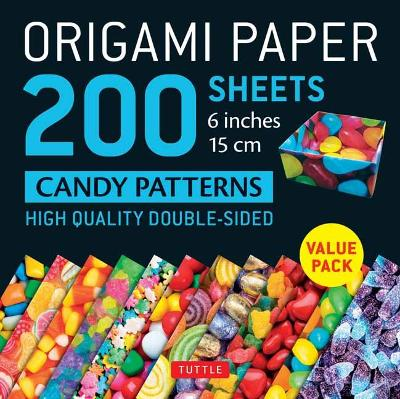 Origami Paper 200 sheets Candy Patterns 6 (15 cm) by Tuttle