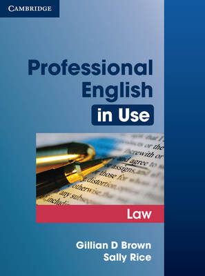 Professional English in Use Law book