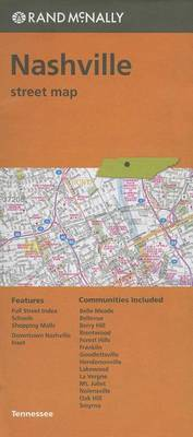 Folded Map Nashville TN Street by Rand McNally