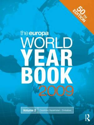 Europa World Year Book 2009 Volume 2 by Europa Publications