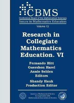 Research in Collegiate Mathematics Education VI book