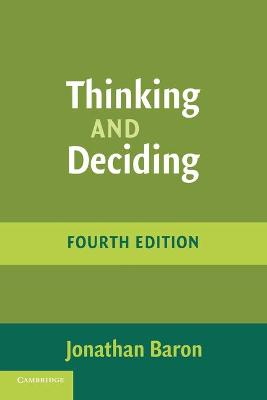 Thinking and Deciding book