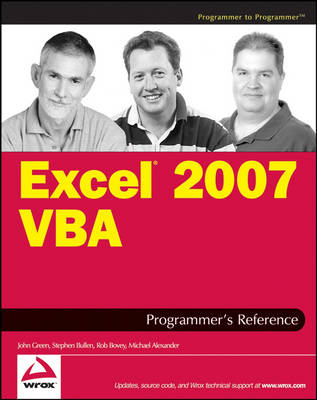 Excel 2007 VBA Programmer's Reference by Michael Alexander