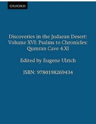 Discoveries in the Judaean Desert by Eugene C. Ulrich