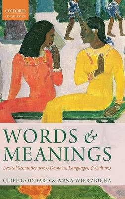 Words and Meanings by Cliff Goddard