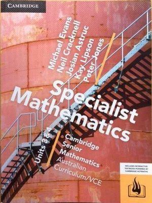 CSM VCE Specialist Mathematics Units 3 and 4 book