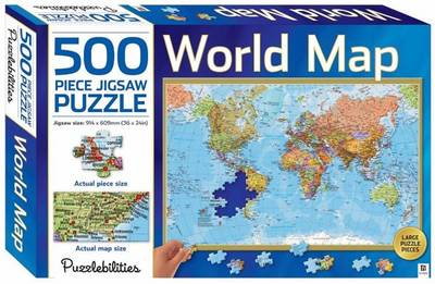 World Map 500 Piece Jigsaw Puzzle by