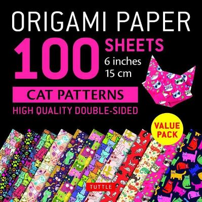 Origami Paper 100 sheets Cat Patterns 6 (15 cm) by Tuttle Publishing