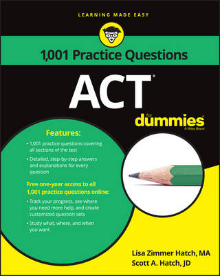 1,001 Act Practice Questions for Dummies by Lisa Zimmer Hatch