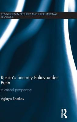 Russia's Security Policy under Putin book
