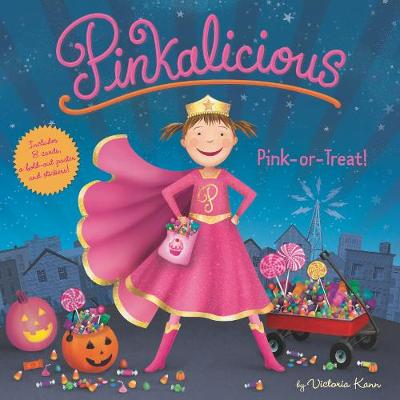 Pinkalicious: Pink or Treat!: Includes 8 Cards, a Fold-Out Poster, and Stickers! book