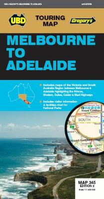 Melbourne to Adelaide Map 345 3rd ed by UBD Gregory's