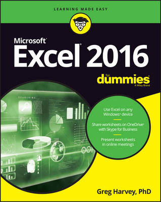 Excel 2016 For Dummies by Greg Harvey