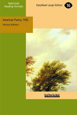 American Poetry, 1922: A Miscellany by Amy Lowell