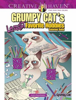 Creative Haven Grumpy Cat's Least Favorite Hobbies by Jessica Mazurkiewicz