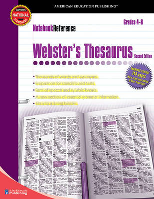 Webster's Thesaurus, Grades 4 - 8 by American Education Publishing