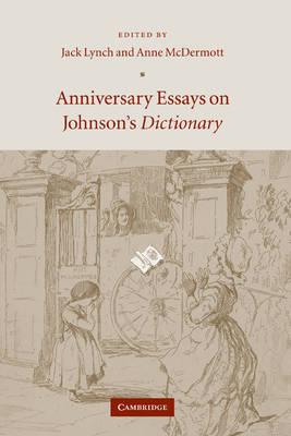 Anniversary Essays on Johnson's Dictionary book
