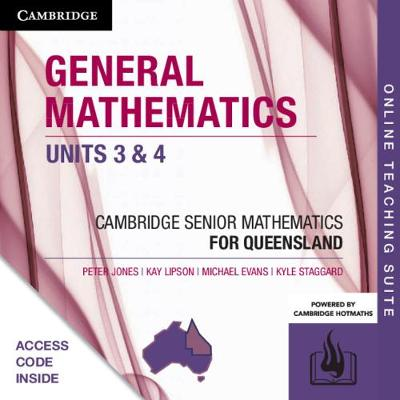 CSM QLD General Mathematics Units 3 and 4 Online Teaching Suite (Card) by Peter Jones