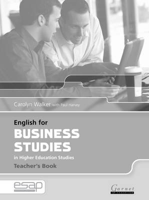 English for Business Studies Teacher Book by Carolyn Walker