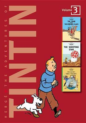 Adventures of Tintin 3 Complete Adventures in 1 Volume WITH The Shooting Star AND The Secret of the Unicorn by Herge