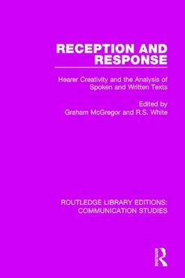 Reception and Response book