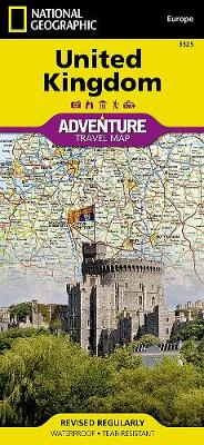 United Kingdom: Travel Maps International Adventure Map by National Geographic