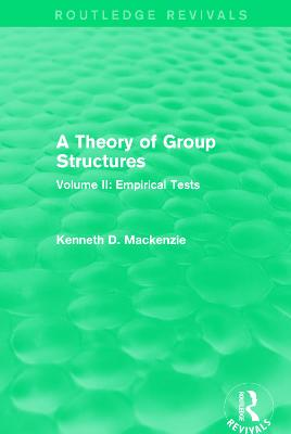 A Theory of Group Structures by Kenneth D. Mackenzie