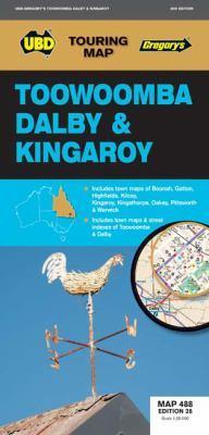 Toowoomba Dalby & Kingaroy Map 488 28th ed by UBD Gregory's