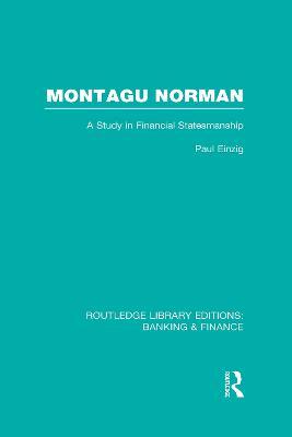 Montagu Norman book
