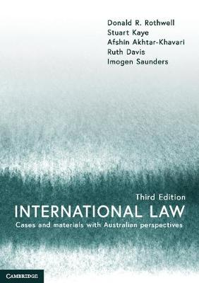 International Law by Donald R Rothwell
