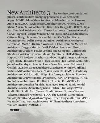 New Architects  Volume 3 by The Architecture Foundation