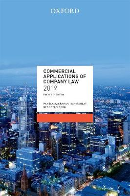 Commercial Applications of Company Law 2019 by Pamela Hanrahan