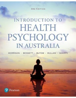 Introduction to Health Psychology in Australia by Val Morrison
